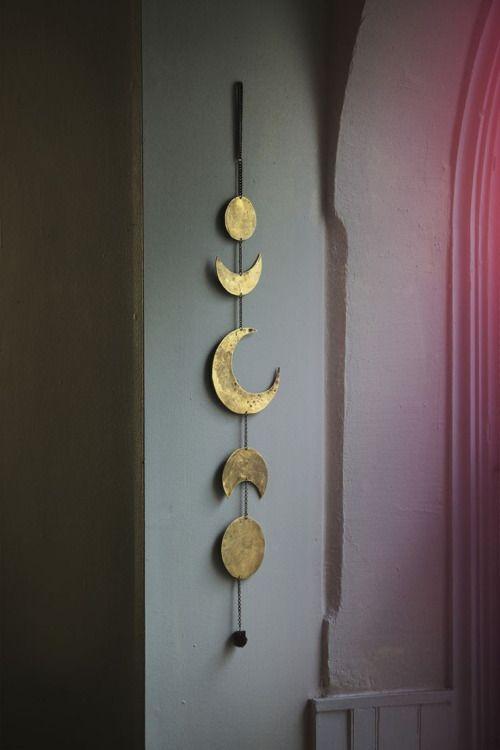 • home decor hippie boho Full Moon moon sun bohemian Living Room zodiac decor gold gypsy free spirit crescent moon Mobile Bronze half moon wanderer bows&arrows bowsandarrowsforever zodiac calendar bowsandarrowsforever •