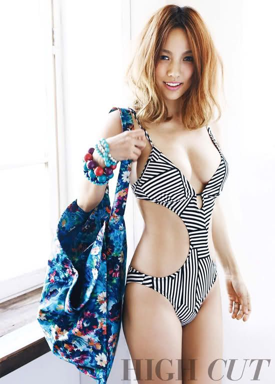 sexy stripped bathing-suit: Fashion, Sexy Swimsuits, Mid Length Hair, Kpop, Lee Hyori, Highcut, High Cut, K Pop, Leehyori