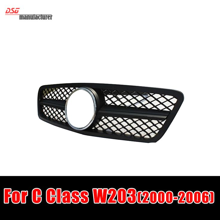 W203 front grill grille mesh silver gloss black front grill for benz 2000 2006 C280 C320 C240 C200 Mercedes