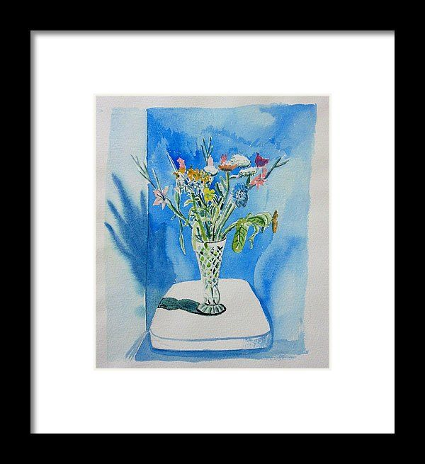 Flowers Framed Print featuring the painting Vase With Assorted Flowers by Shaun Stapleton