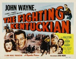 John Wayne, Oliver Hardy, Philip Dorn, Vera Ralston, and Marie Windsor in The Fighting Kentuckian (1949)