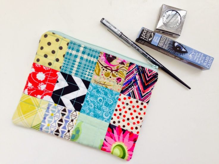 Sweetest patchwork zipper pouch and cosmetic goodies received from Jennifer of Sunnyincal!