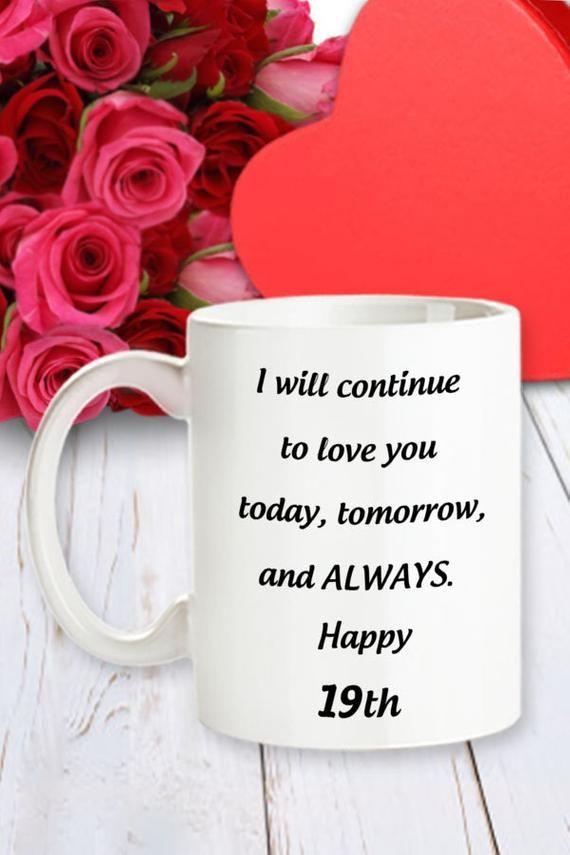 19th Anniversary Gift For Her 19 Yr Birthday Mug For Girl Etsy Birthday Gift For Wife 12th Anniversary Gifts Wedding Anniversary Favors