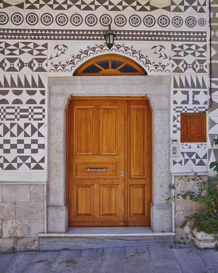 Ethnic style house entrance, Chios island