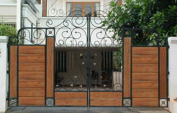 Transitional Wood Gate Designs Photos
