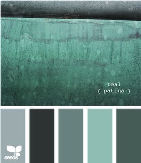 gray & teal color inspiration