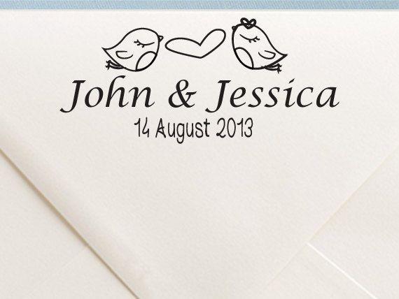 Personalizzato matrimonio montato timbro, timbro di nozze personalizzati, monogramma, RSVP, amore è dolce, regalo per coppia, regalo Housewarming - WD5 on Etsy, 14,99€