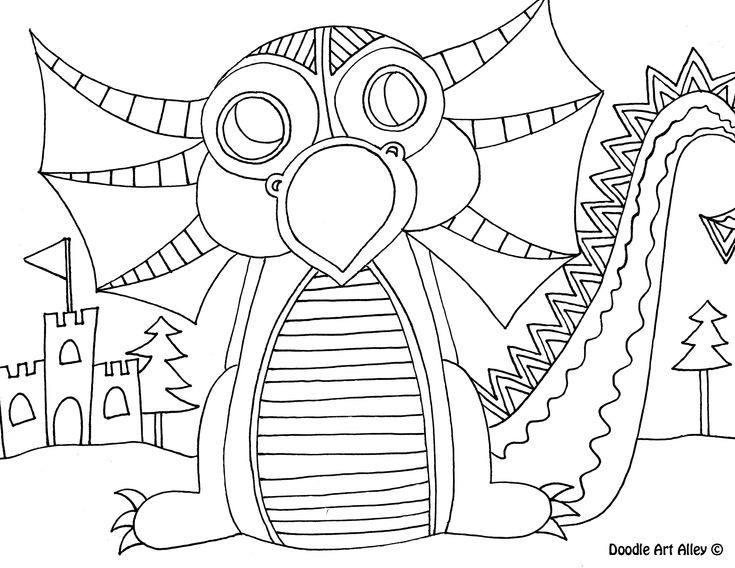 Winter Owls Adult Coloring Page