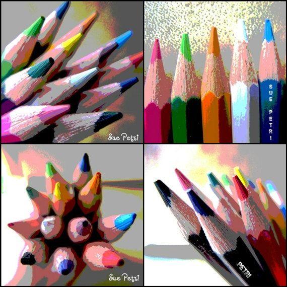 Color Pencil Photos  Four 4x6 Still Life Photos  by SuePetriPhotos, $20.00