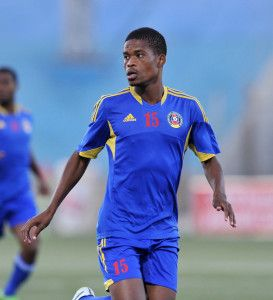 Njabulo Ndlovu of Swaziland during the 2016 Cosafa Cup Semifinal  match between South Africa and Swaziland at Sam Nujoma Stadium in Windhoek Namibia on 22 June, 2016 ©Muzi Ntombela/BackpagePix