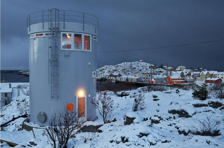 An old oil tank converted for residential!  Norway