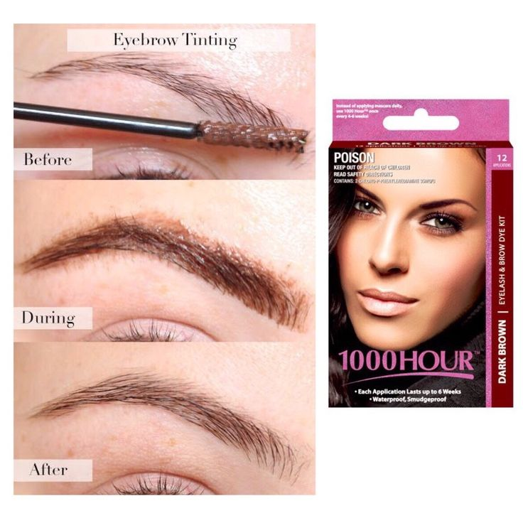 How to dye your eyebrows with 1000Hour Eyelashes & Brows Dye / Tint Kit (Dark Brown)! Dye kits come in 4 colors so you are guaranteed to find the perfect color for you! Blue Black, Natural Black, Brown Black, and Dark Brown! #CaliPostCo #eyes #beauty