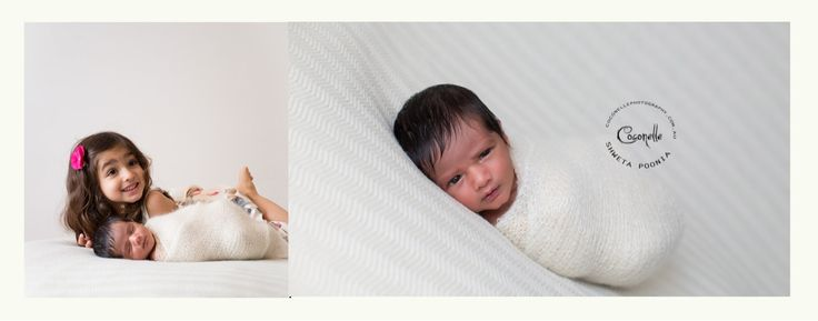 What a joy to have these siblings in my studio! Ekam and her baby brother, 11 days old.