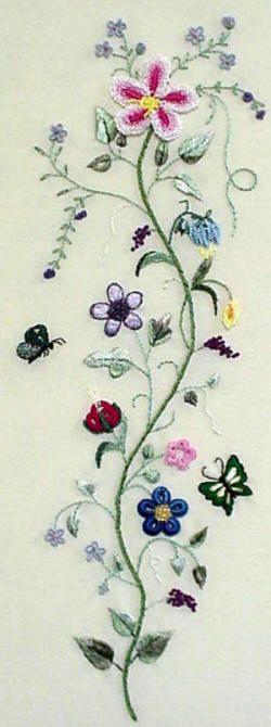 Jungle Vine hand embroidery design