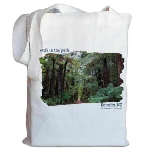 NZ Canvas Bag - Redwood Forest, Rotorua, New Zealand