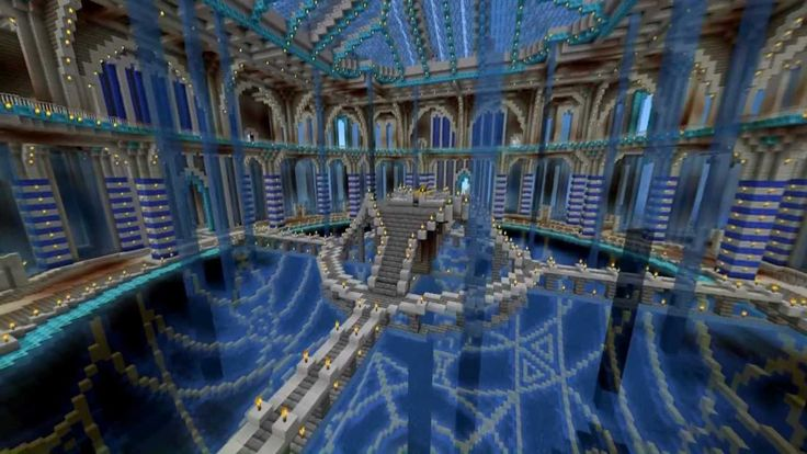 Minecraft - Water Temple: Timelapse and Cinematic!