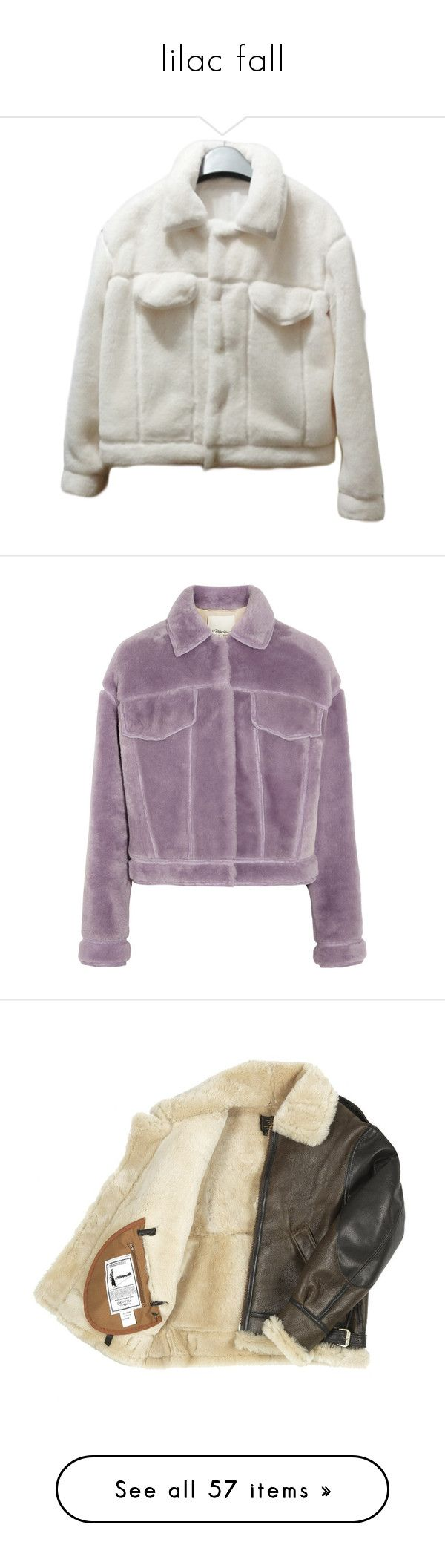"""lilac fall"" by vesleku on Polyvore featuring outerwear, jackets, clothing - outerwear, coats, coats & jackets, white winter jacket, cropped jacket, ivory jacket, purple and lavender jacket"