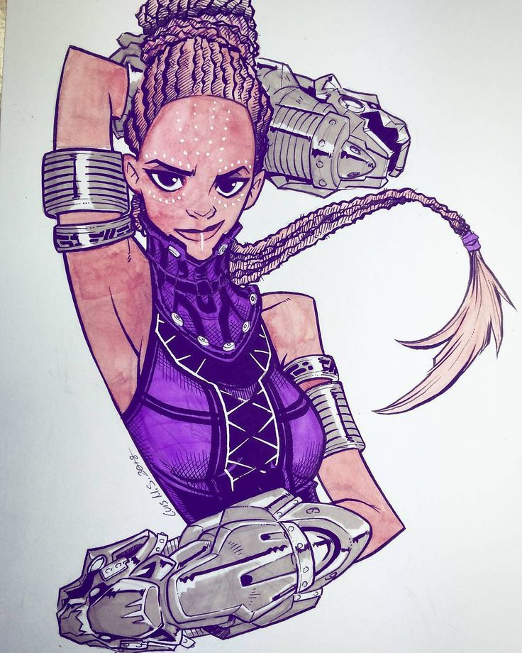 Black Panther Shuri fan art