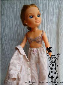 Tengo a mis muñecas un poco escasas de ropa interior ,así que hace unos días fui de mercerías en busca de unas puntillas ,quetuvieran...