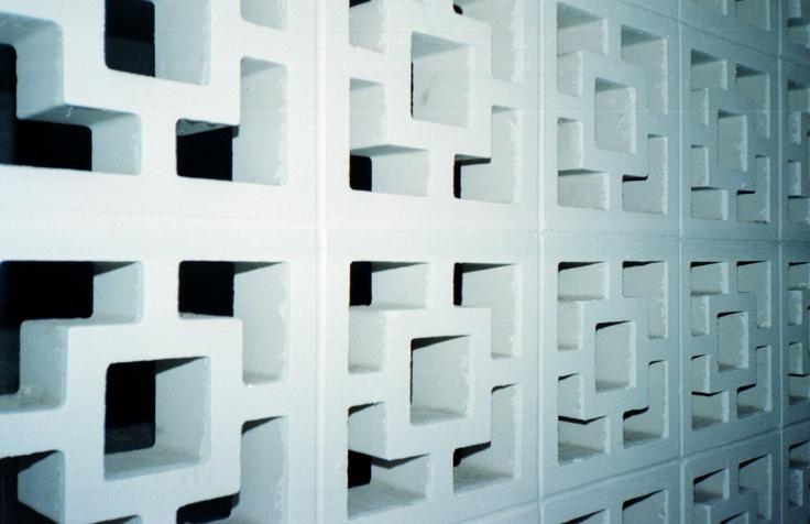 Brick Lattice Wall At A Hotel Love The Concrete Blocks