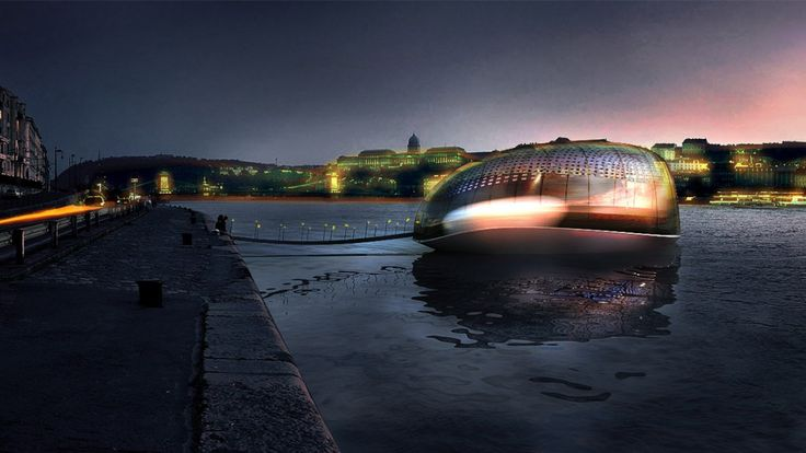 Standing Ship concept on the Danube - Hungary by RELOAD architects | Állóhajó a Dunán