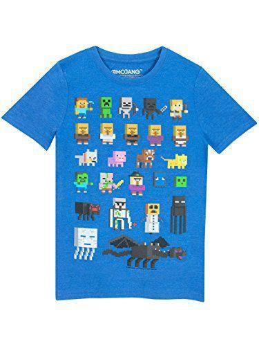 Minecraft – T-Shirt à Manches Courtes – Garçon: Super garçon Minecraft T-shirt à manches courtes pour Minecraft pression avec tous vos…