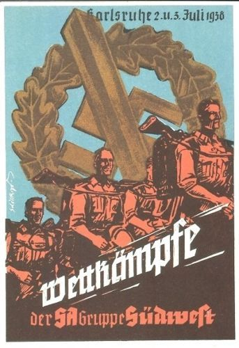 1938 WETTKÄMPFE COMPETITIONS SA STURMABTEILUNG POSTCARD 100 PCS IN SET PRICE $4999