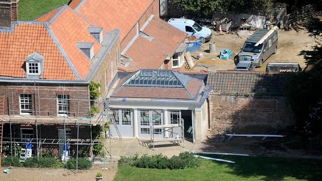 THE new, garden room, with a glass ceiling at Anmer Hall, the new country home of Prince William and Kate. Picture: Snapper Media Group. ...