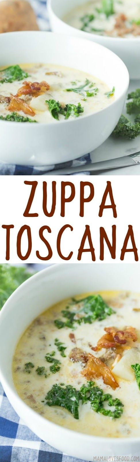 made it tonight! even better than Olive Garden!!!   Zuppa Toscana {Creamy Potato Sausage Soup} - Olive Garden Copycat Recipe