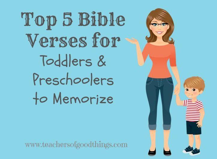 Top 5 Bible Verses for Toddlers & Preschoolers to Memorize