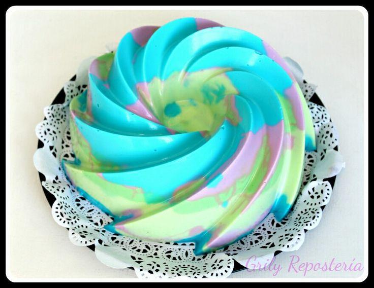 Gelatina de Yogurt de colores