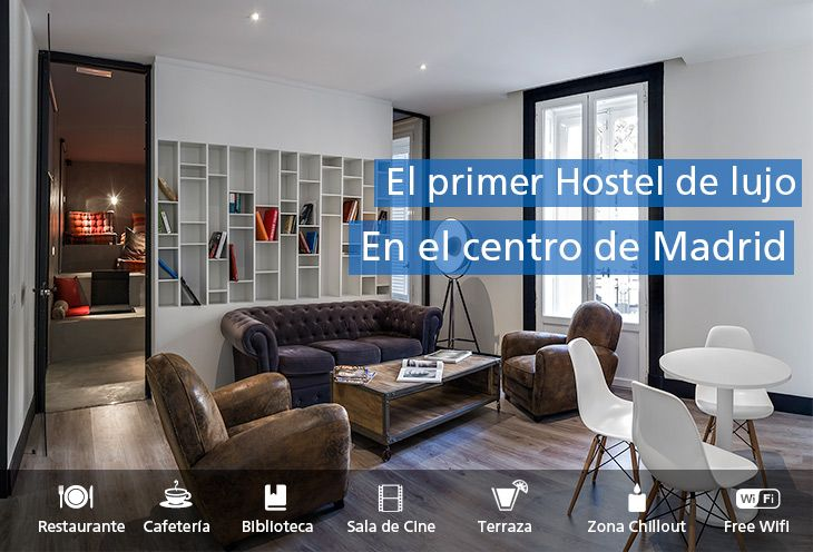 U Hostels, el primer hostel de lujo en el centro de Madrid - www.uhostels.com