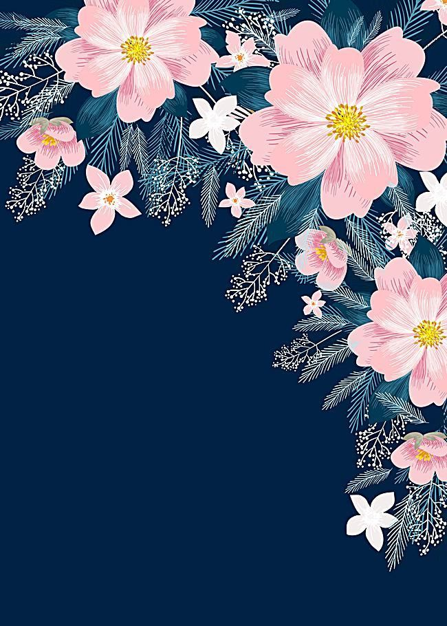 pink flowers plant leaves wedding invitations template