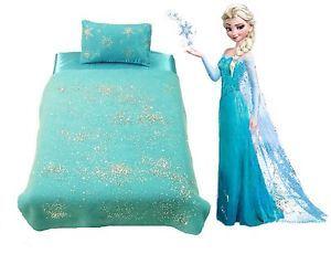"""Doll Blanket And Pillow For 18"""" American Girl Disney Frozen Elsa inspired"""