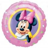 Palloncino in foil rotondo deco Minnie, per decorare a festa a tema topolino, compleanno, party. Venduto sgonfio e gonfiabile sia ad aria che elio per decorazioni. Diam.45 cm. By C&C Creations Store