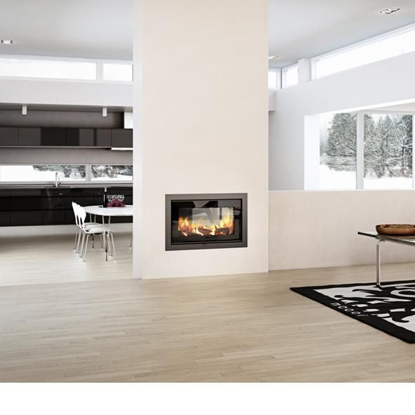Rais | 2-1 Double Sided 6kw Wood Burning Insert Fire
