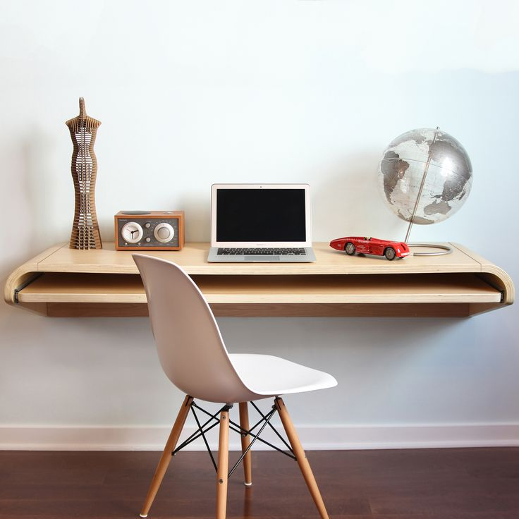 LAX Series Wall Mounted Desk with Storage Nooks