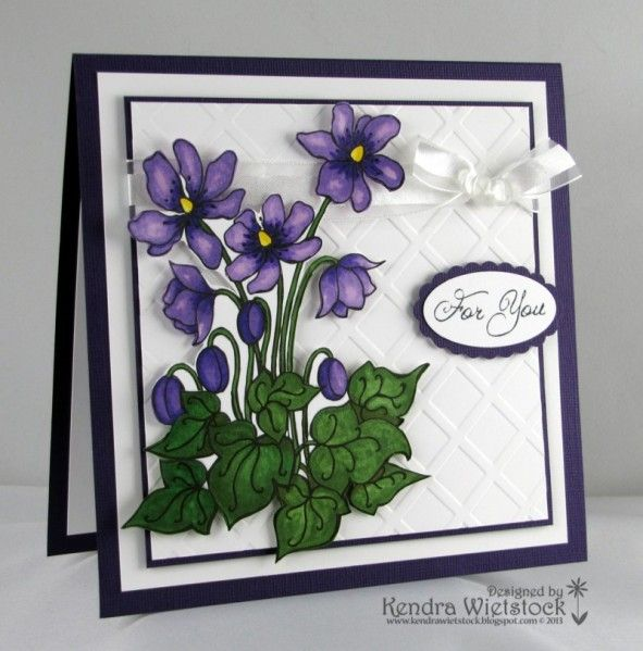 253 best cards flowers 2 images on pinterest blossoms craft and floral fantasy violets by kendra cards and paper crafts at splitcoaststampers m4hsunfo Images