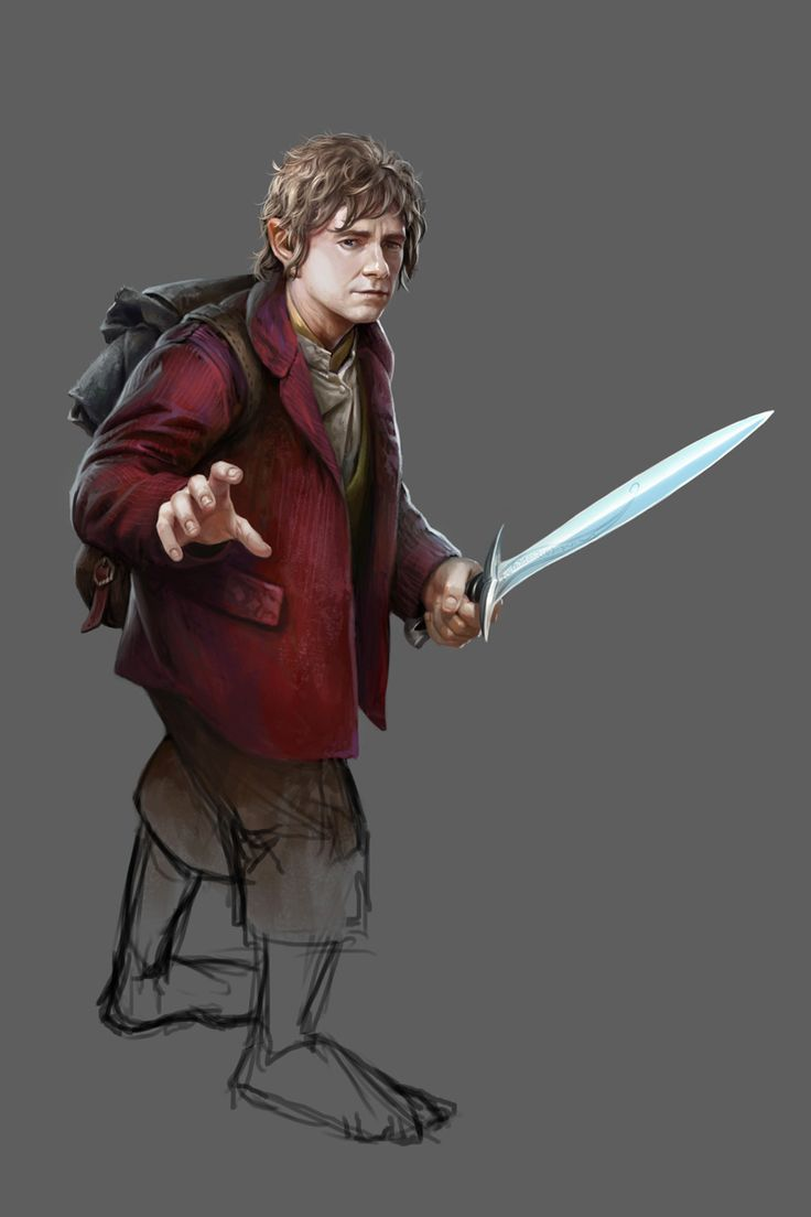 Bilbo Baggins, by Daarken for the game The Hobbit: Battle of Five Armies