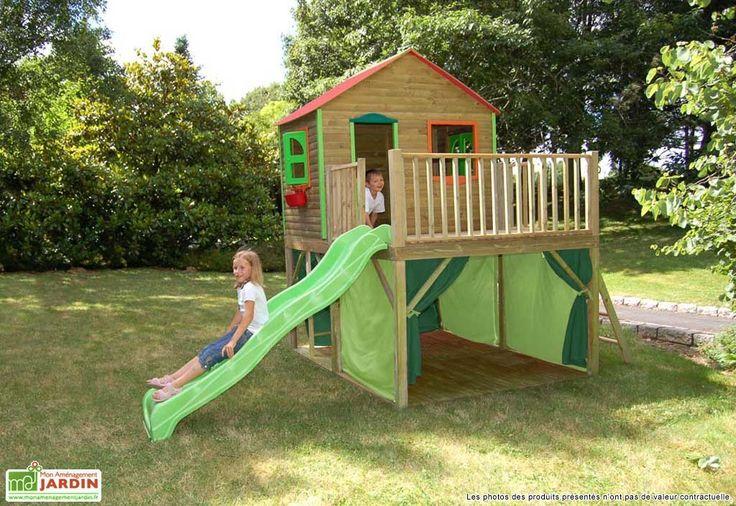 Maison Enfant Bois et Plastique Fanfan