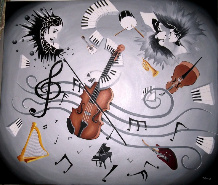 """''Portativul Muzical'' Pictura in ulei , dimensiuni 1,40m pe 1,20m.(Deco,Combinatul Fondului Asociatia Artistilor Plastici Bucuresti),Pictura proprie : Boboc Daniel """"by B.Daniel"""" De vanzare 1600 ron :)"""