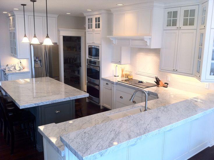 carrara marble kitchen pics - Pesquisa Google