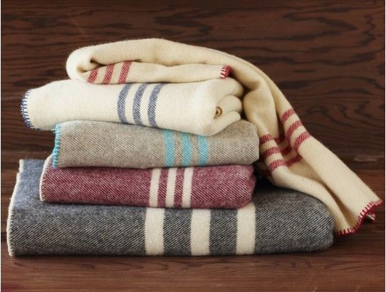 Coyuchi Striped Wool Blankets