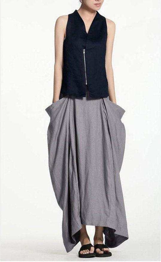 Relax life/women/clothing/linen/long skirt/big by KelansArtCouture, $68.00