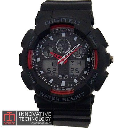 jam tangan digitec DG-2011T hitam merah