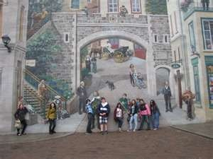 46 best images about old quebec city on pinterest fine for Mural quebec city