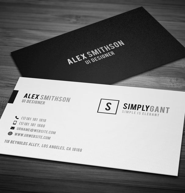 53 best business cardslogos images on pinterest business card image result for simple elegant business cards reheart Images