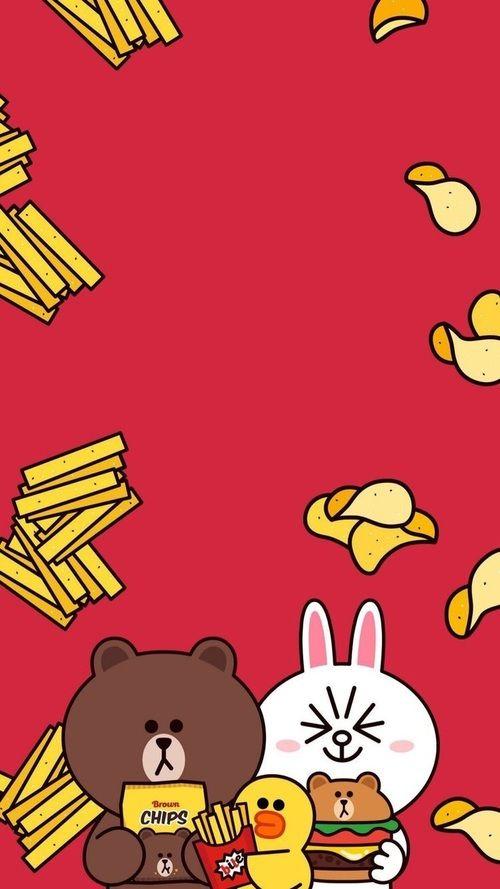 gambar bear, brown, and line