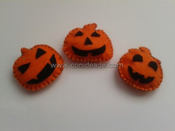 Plantillas para hacer broches de fieltro para halloween  #diy #halloween #handmade