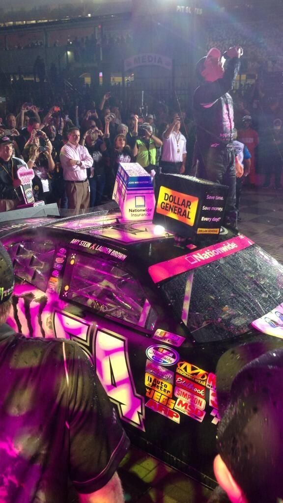 In Dollar General 300 Victory Lane at Charlotte with Kyle Busch and Monster Energy!!!